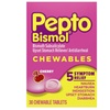 Pepto Bismol 5 Symptoms Digestive Relief Chewable Tablets, Cherry, 30 Tablets