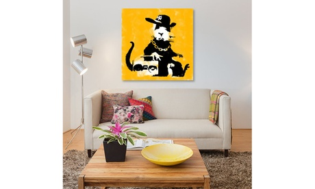 Gangster Rat (Yellow) by Banksy 3b9a3d7c-e49d-4590-adae-e53330e99618