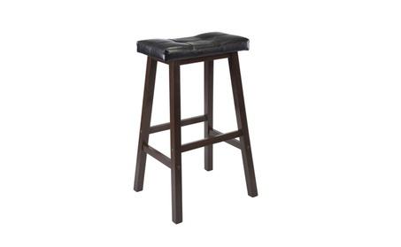 Cushion Saddle Seat Stool, Black, Faux Leather Winsome Mona 29-Inch cc3eeef9-cca8-4618-8dfc-65204eeb75c2