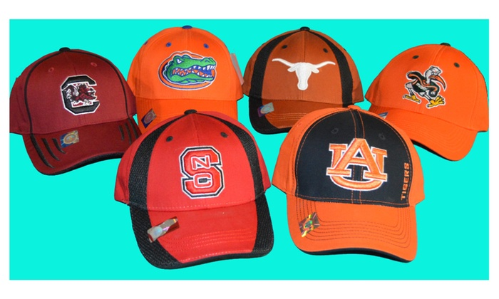 Official NCAA College Curved Bill Adjustable Velcro Baseball Hat
