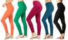 Women's Full-Length Leggings. Plus Sizes Available. (5-Pack)