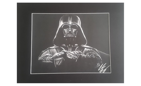The Dark Lord Darth Vader Matted 11x14 Lithograph b61a853f-33d9-4012-90ee-2b407b92a46c