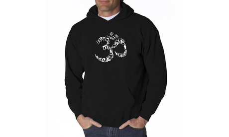 Men's Hooded Sweatshirt - THE OM SYMBOL OUT OF YOGA POSES ae26620f-fd9c-4a21-b94e-26a091b0caa8
