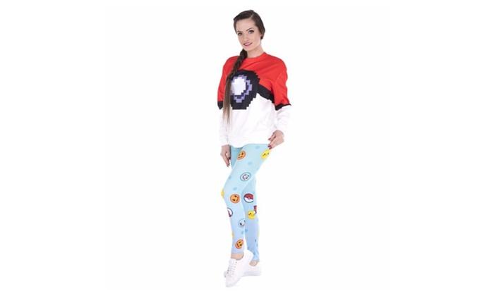 Pokemon Emojis Women's Leggings Printed Yoga Pants Workout