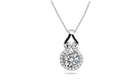3.00 CTTW Round Cut Crystal Necklace Made With Crystals From Swarovski