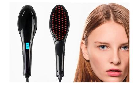 Black Ceramic Hair Straightener Brush LCD Professional Flat Iron ec417757-deb7-4aa1-8a3e-9ab2286118fb