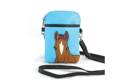 Sleepyville Critters Chestnut Horse Cellphone Crossbody Shoulder Purse (Goods Women's Fashion Accessories Handbags Cross-Body) photo