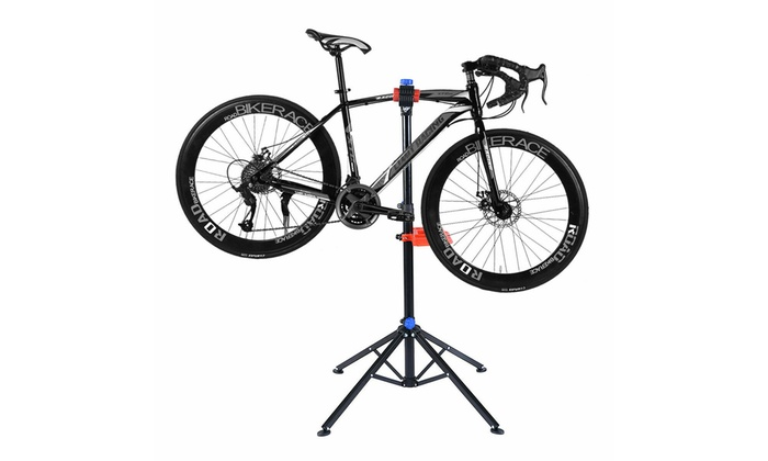 """Pro Bike Adjustable 41/"""" To 75/'/' Cycle Bicycle Rack Repair Stand w// Tool Tray Red"""