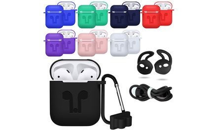 Airpods Case Accessory Best Kit (5-Piece) Protector Silicone Case Cover