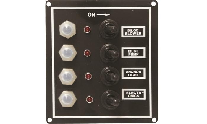 Seasense 4 Gang Led Switch Panel