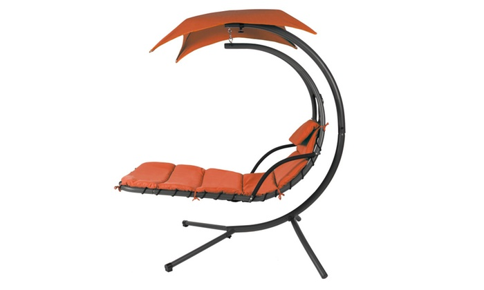 ... Hanging Chaise Lounger Chair Arc Stand Air Porch Swing
