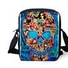 3D Skull Small Canvas Cross-Body Bag for Women