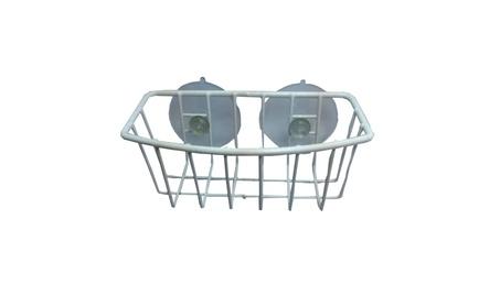 Durable Steel White Coated Large Suction Cups Kitchen Sponge Holder 5889d91d-f3a5-4ec4-8023-32bf2cbf301e