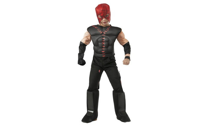 wwe kane deluxe muscle chest boys size s 46 licensed costume rubies