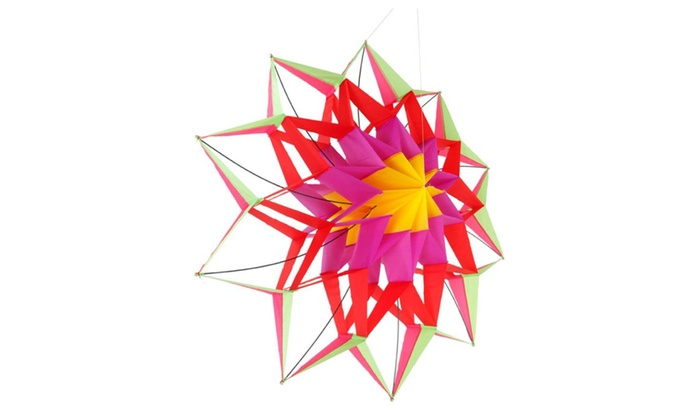 Up to 58 off on 3d lotus flower kite single l groupon goods 3d lotus flower kite single line outdoor toy flying for kids sport mightylinksfo