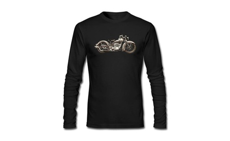 Men's Motorcycle Indian Cotton Round Collar Long Sleeve T Shirt 42446931-c754-4d79-8083-624c9eec355a