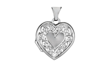 Sterling Silver Heart Shaped Locket 1b767782-4f7b-43ce-8b92-ecd83ab2d377