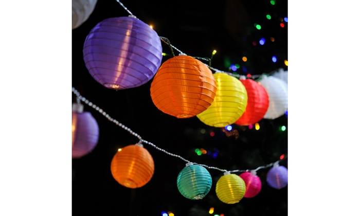 Multi Color Led Lantern String Lights