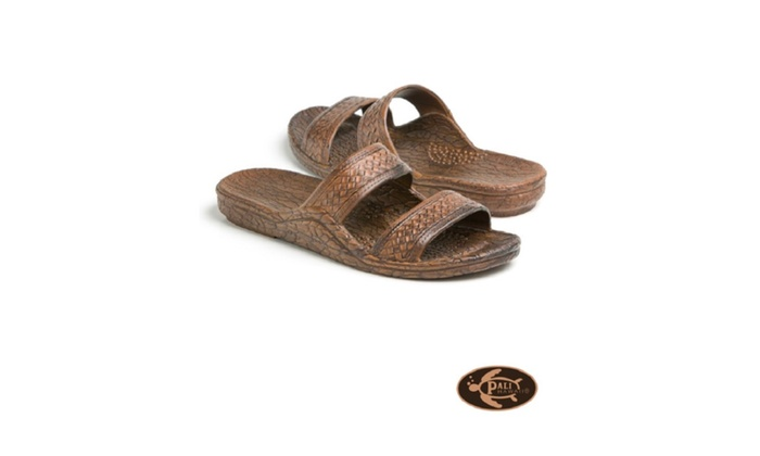 Pali Hawaii Adult Classic Jandal Sandals For Unisex Color - Dark Brown