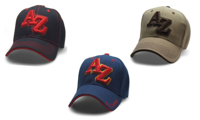 "ARIZONA Initials ""AZ"" Baseball Caps, Adjustable Back Strap (3 Pack)"