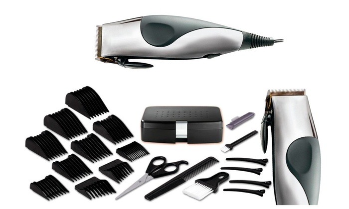 22 Piece Corded Haircut Kit Blades Never Need Oiling Groupon