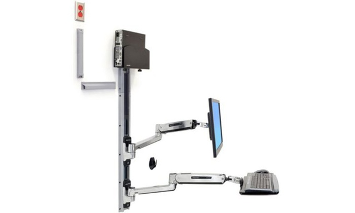 Ergotron 45 359 026 Lx Sit Stand Wall Mount System Groupon