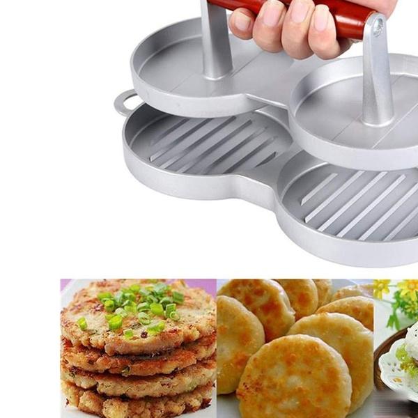 Plastic Burger Press Hamburger Meat Beef Grill Cooking Maker Kitchen Mold UK
