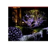 White Solar String Fairy Lights Outdoor Garden Lawn