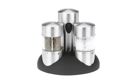 Kalorik Rechargeable Stainless Steel Salt and Pepper Grinder Set 4cdd5055-79f2-4f9b-8c34-370910d49116