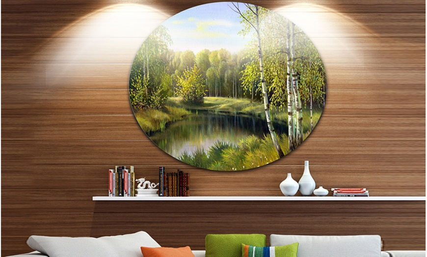 Up To 16 Off On Quiet Autumn River Landscape Groupon Goods