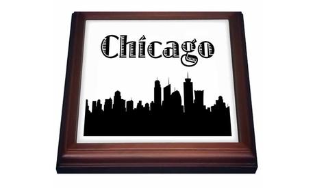 Trivet with Tile Chicago City Skyline photo