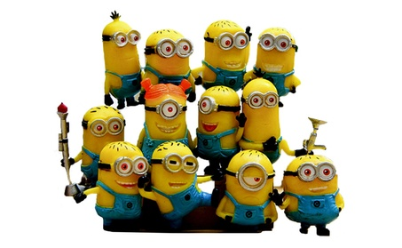 12PCS Little Yellow Man Action Figure Toy Sets Children Cartoon Anime 5146869e-8e36-4c71-ac23-a2b7320f65be