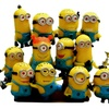 12PCS/Set Minions Movie Character Action Figures Doll Toys