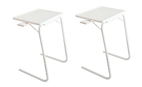 2x Adjustable Table Laptop Desk Tray w/ Cup Holder 04b86656-997b-4ed5-8a6e-a8e71d646bc2