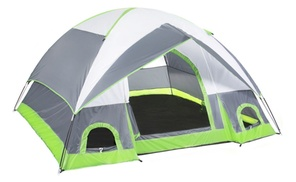 4 Person Camping Tent Family Outdoor Sleeping Dome Water Resistant at Black Pearl, plus 6.0% Cash Back from Ebates.
