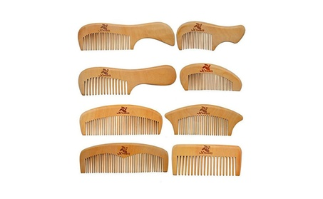 8 Pcs The Family Of Hair Comb Wood Handmade Brush for Beard 14aba388-afc8-4494-8e2b-b7ac0f5a6e47