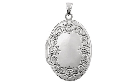 Sterling Silver Oval Locket c515a481-6c31-4bb5-b920-3dc7aba41a98