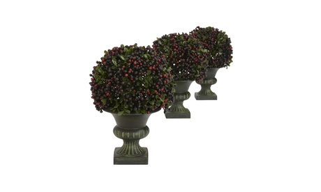 Nearly Natural Set of 3 Pepper Berry Ball Topiary 9f51fa16-a1cf-4cee-8503-06286c02c4da
