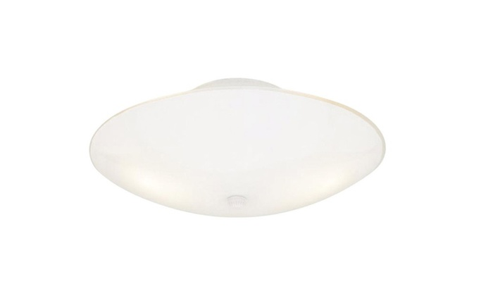 "Westinghouse 66242 Flush-Mount Ceiling Fixture, 13"" x 6"", White"