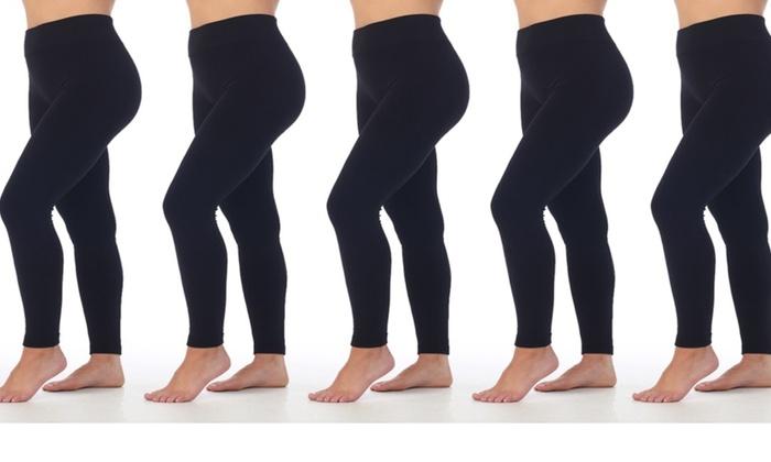 8e8d3f5a6fbec2 Women's Thermal Fleece Leggings (5-Pack)   Groupon