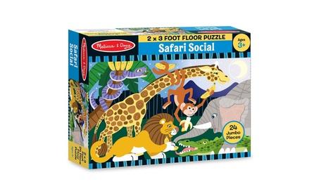 Melissa & Doug Safari Social Jumbo Jigsaw Floor Puzzle (24 pcs,2 x 3 ) c9755f44-c42e-42a2-a874-edc289878f59