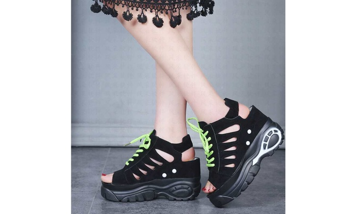 741a6ce58d5 Up To 61% Off on Raised Sandals Women's Platfo... | Groupon Goods