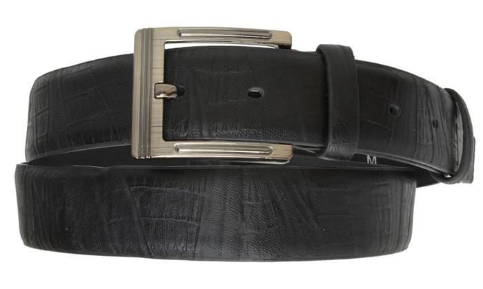 AFONiE Men's Classic Dress Leather Belt, Black & Brown Colors
