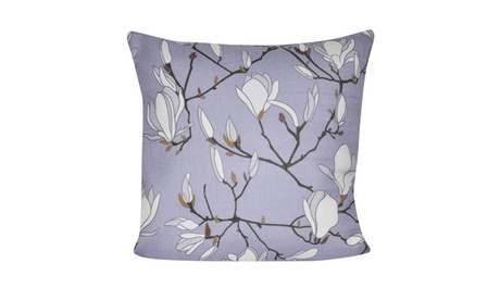 "Loom and Mill P0670-2121P - 21""X21"" Lavender Magnolias Pillow cd148579-be63-40e0-98e2-f5ea2522fe2c"