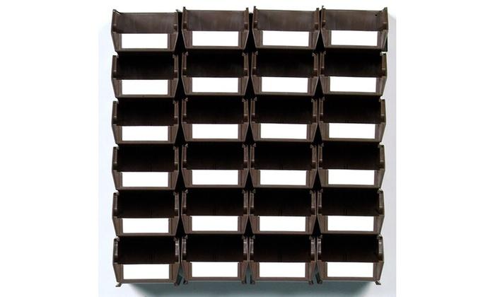 Wall Storage-Med Brown Bins/Rails 26 CT