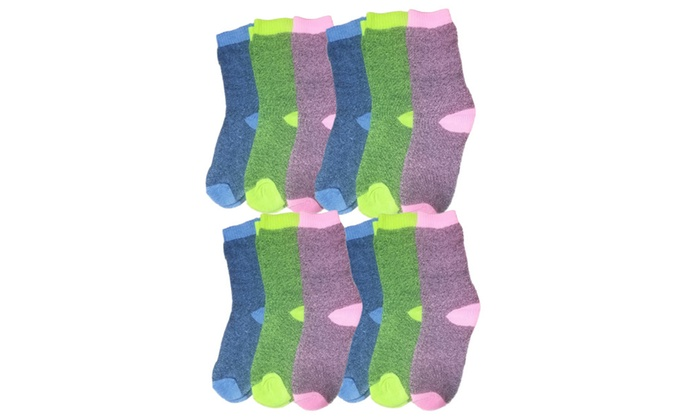 12 Pairs of Womens Colorful Warm Winter Thermal Socks