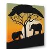 Elephant Safari Silhouette Wall Art Home Décor