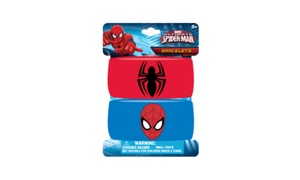 Kids' Spiderman Embroidered Wristband Bracelets (2-Pack)