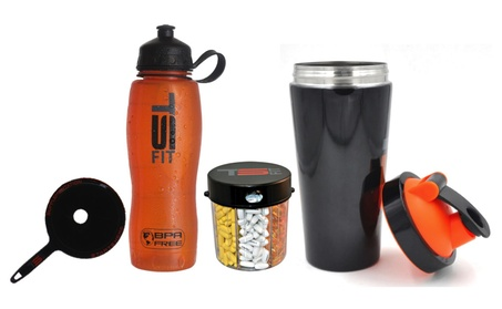 Stainless Steel Shaker Cup 25 Oz with Water Bottle and Pill Dispenser e16efbb0-ee0b-49c1-be0c-58049f02c089