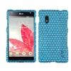 Insten Dots(Blue/white) Diamante Phone Case For Lg: E970 (Optimus G)